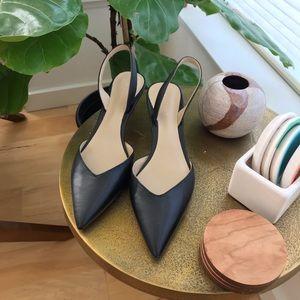 dcfcadd342 Ann Taylor Shoes - Ann Taylor Elora Black slingback pumps, size 8